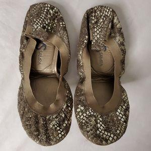 Yosi Samra Shoes - Yosi Samra gold snake ballet flats wet sz 9